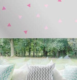 Väikesed kolmnurgad roosa
