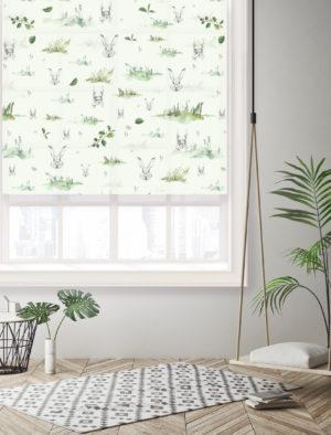Ruloo Metsaloomad roheline – DuoPrint Decor