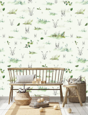 Tapeet Metsaloomad Roheline – DuoPrint Decor