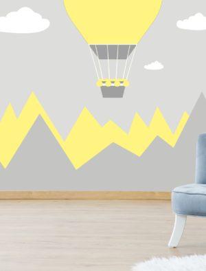 Kuumaõhupall kollane